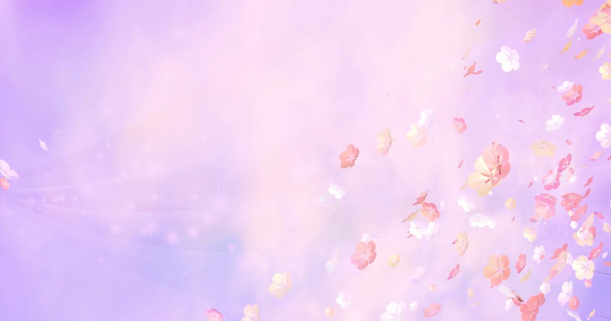 紫の光、舞う桜