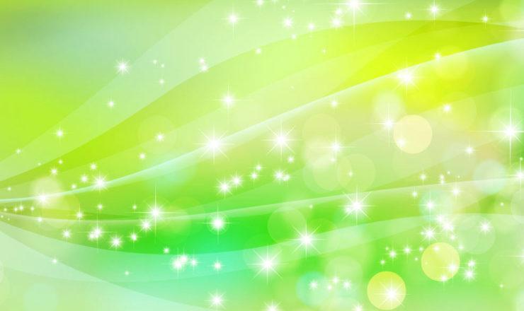 緑の光の輝き、流れ
