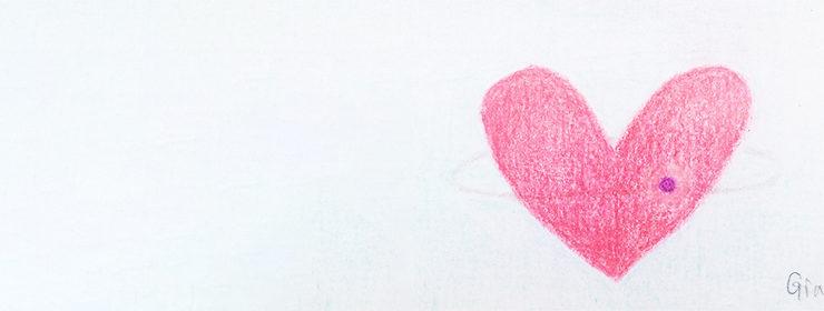 円に守られる心臓、ハート