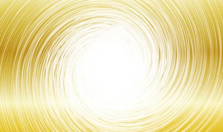 黄金色に光る滑らかな愛の渦(唯一根源神ホアのイメージ画像)