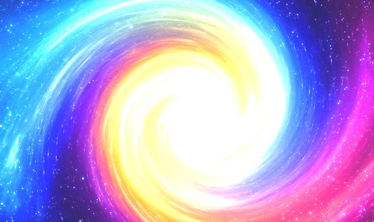 宇宙、黄金の渦
