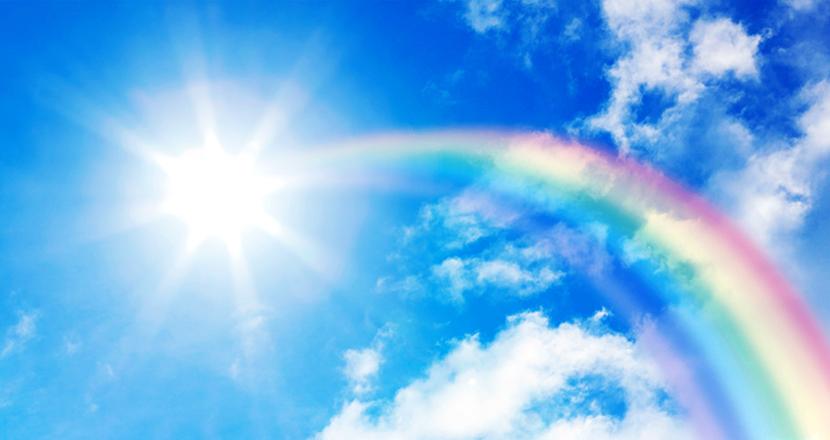 青空架ける虹