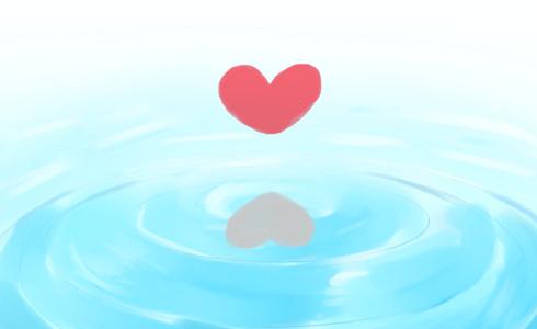 ハートの波紋