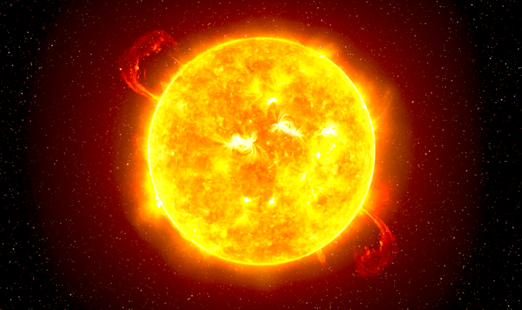 宇宙から見た太陽