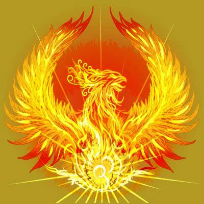燃える不死鳥