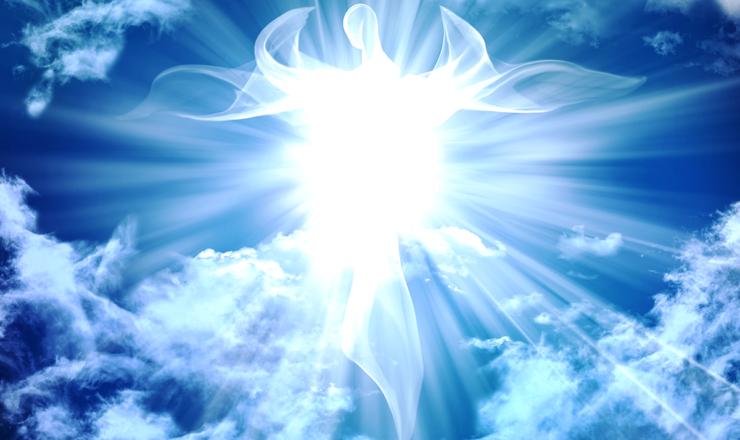 青空輝く白い光