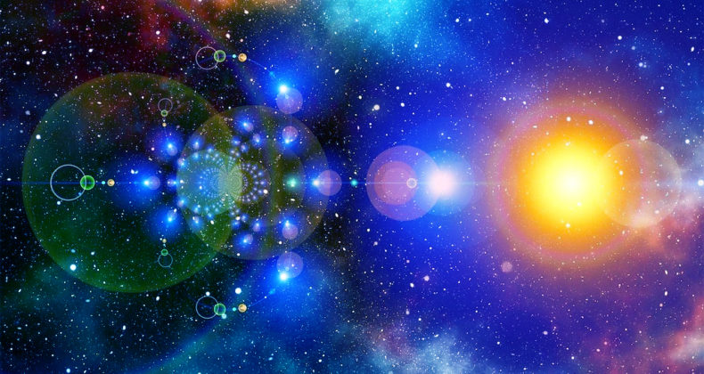 宇宙の輝き、光